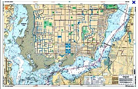 cape coral canals chart