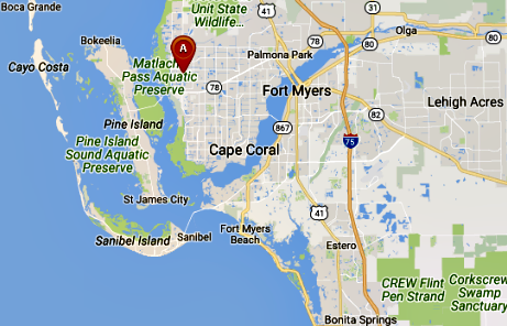 Map Of Florida Showing Sanibel Island Cape Coral Florida Map