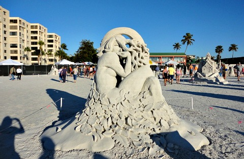 fort myers beach sand sculptures