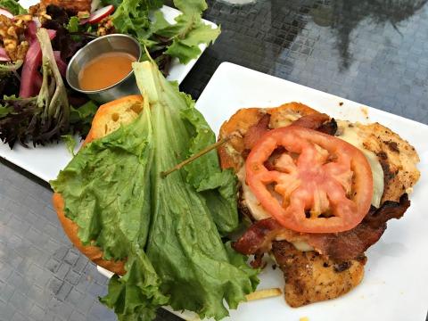 grilled grouper burger