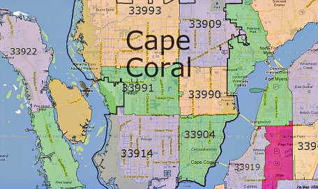 Cape Coral Zip Code Map | Zip Code MAP