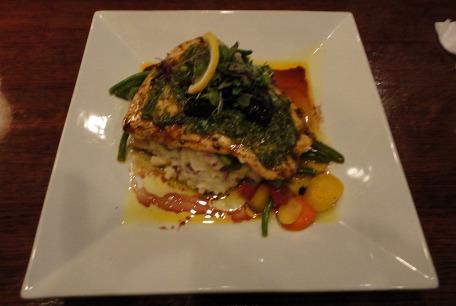 salmon with chimichurri